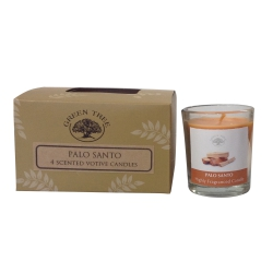 Green Tree - Palo Santo 4 Scented Votive Candles
