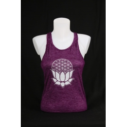YogaStyles singlet lotus/flower of life paars one size