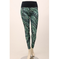 Om Namaste Tropical Legging - Blauw Groen - Medium/Large